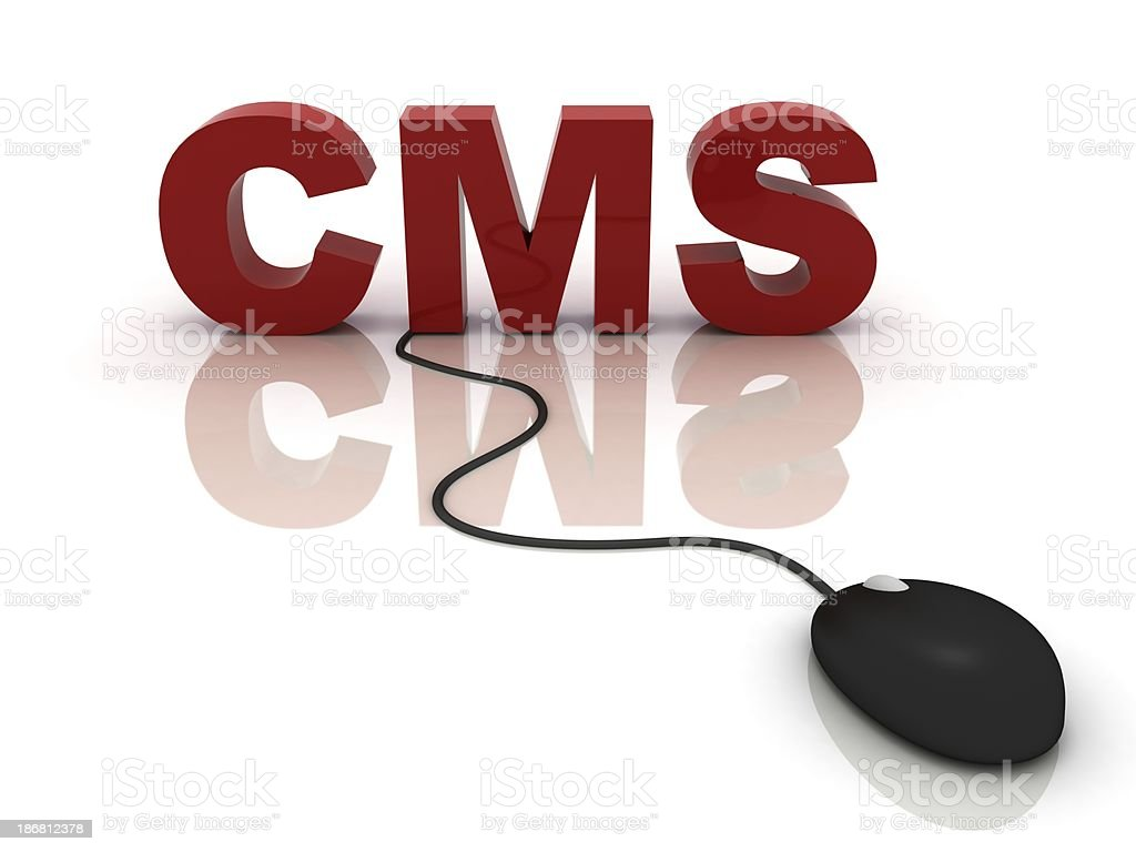 Content management system CMS royalty-free stock photo