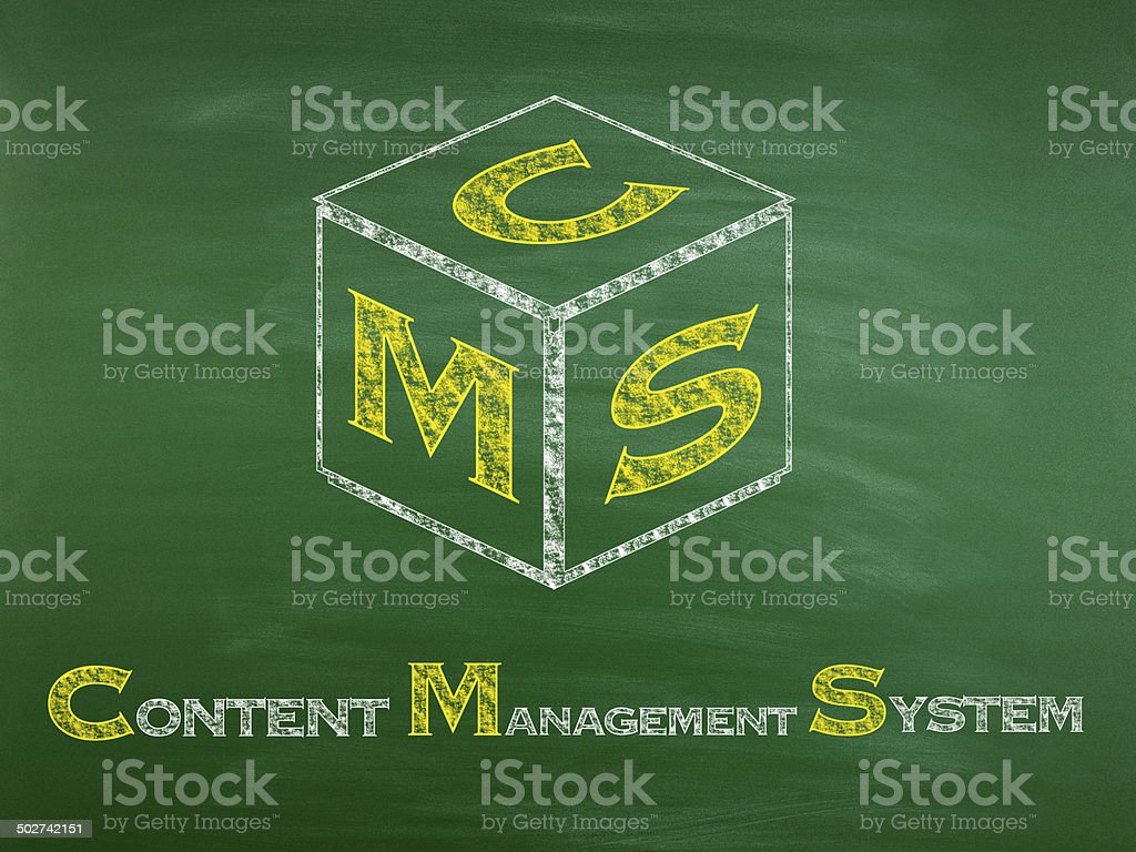 Content Management System (Click for more) stock photo