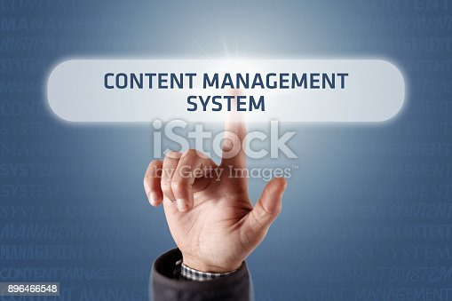 istock Content Management System - Touch Screen Concept 896466548