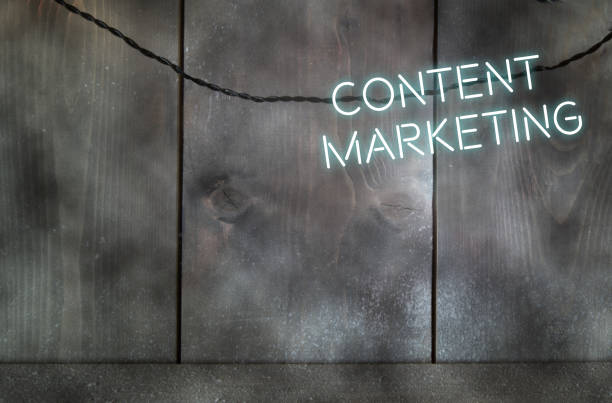 Content marketing background stock photo