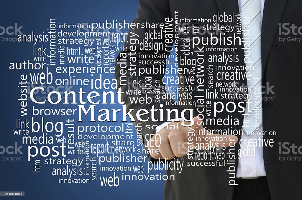 Content Marketing Concept royalty-free stock photo