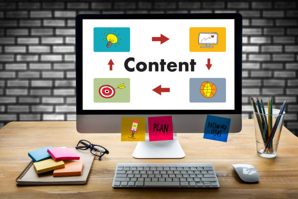 content marketing Content Data Blogging Media Publication Information Vision Concept stock photo