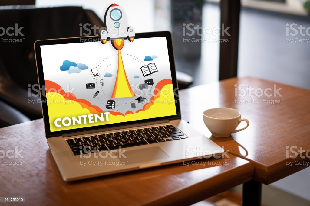 content marketing Content Data Blogging Media Publication Information Vision Concept royalty-free stock photo