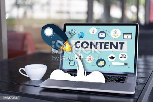 istock content marketing Content Data Blogging Media Publication Information Vision Concept 976370312