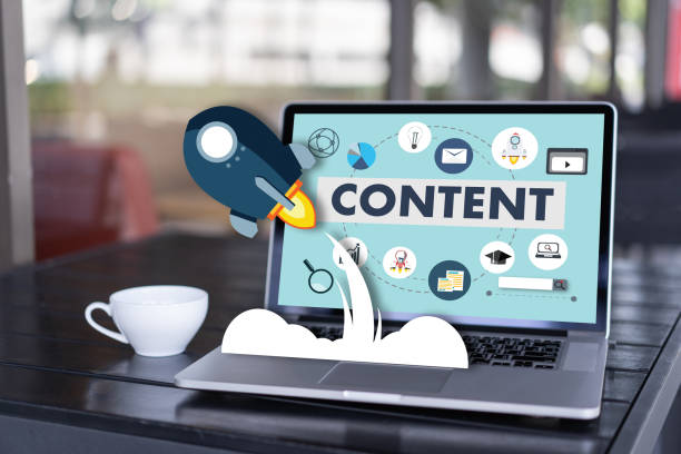 Content-marketing-Inhalte Daten Blogging Medien Publikation Informationen Vision Concept – Foto