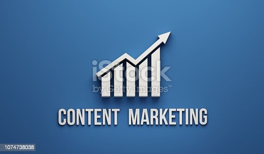 istock Content Marketing Growth Bar. 3D Render illustration 1074738038