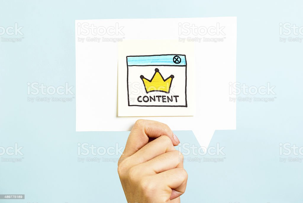 Content marketing is still king for blogs, strategy, management, branding stock photo