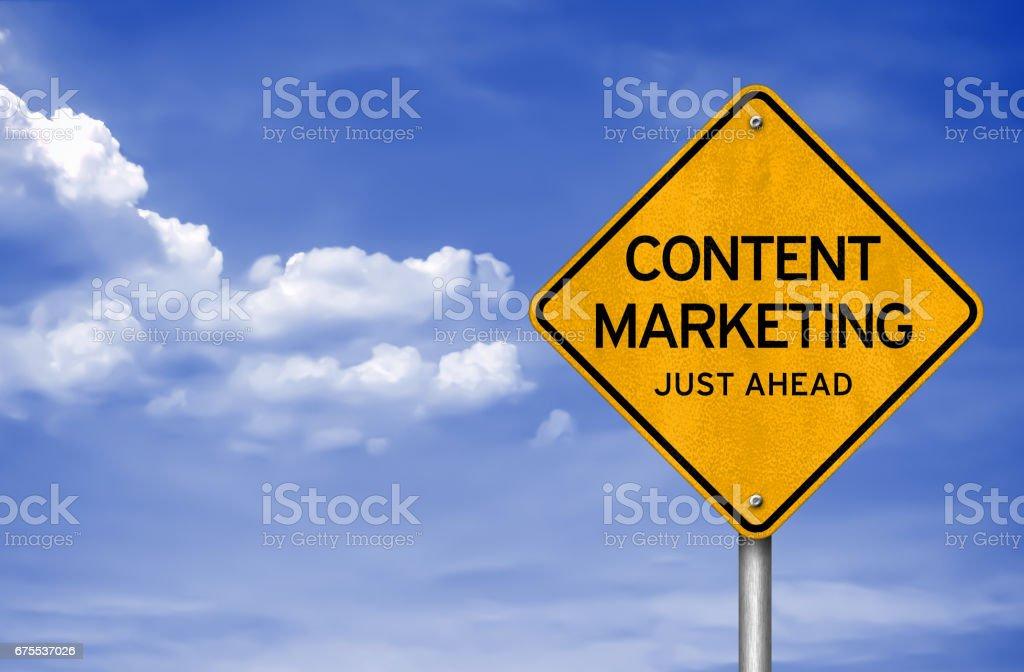 Content Marketing - just ahead photo libre de droits