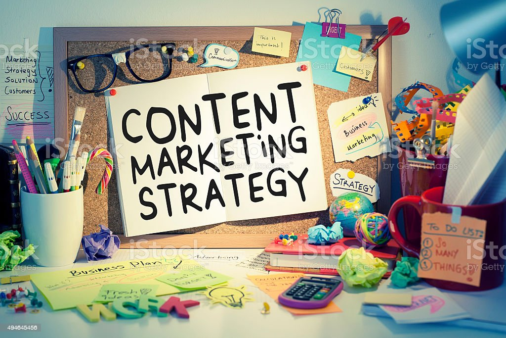 Content Marketing Strategy stock photo