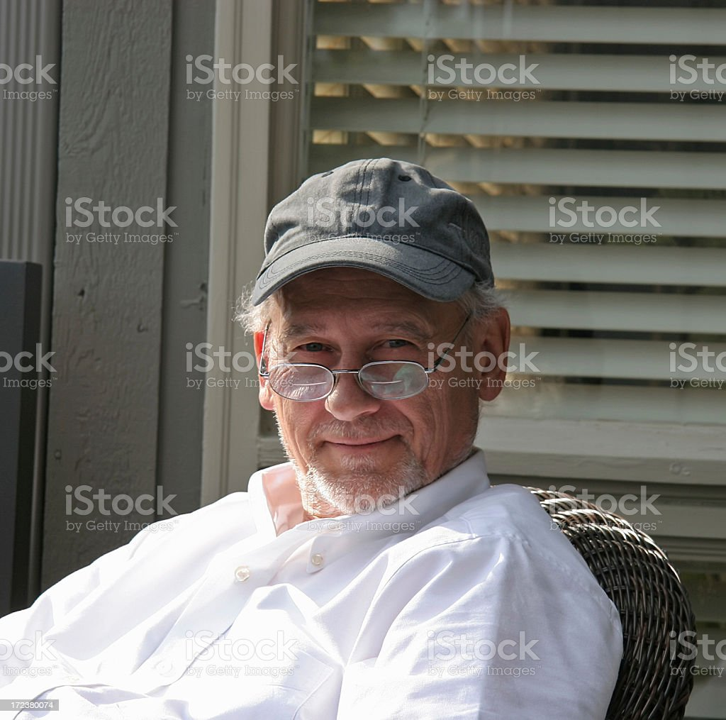 Content Older Man royalty-free stock photo
