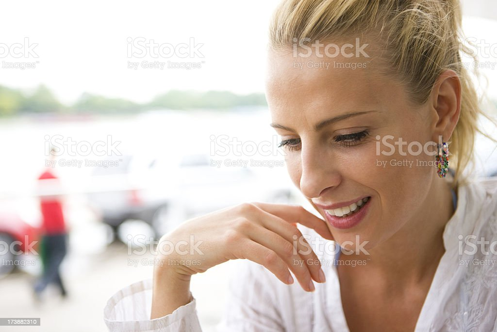 Content woman royalty-free stock photo
