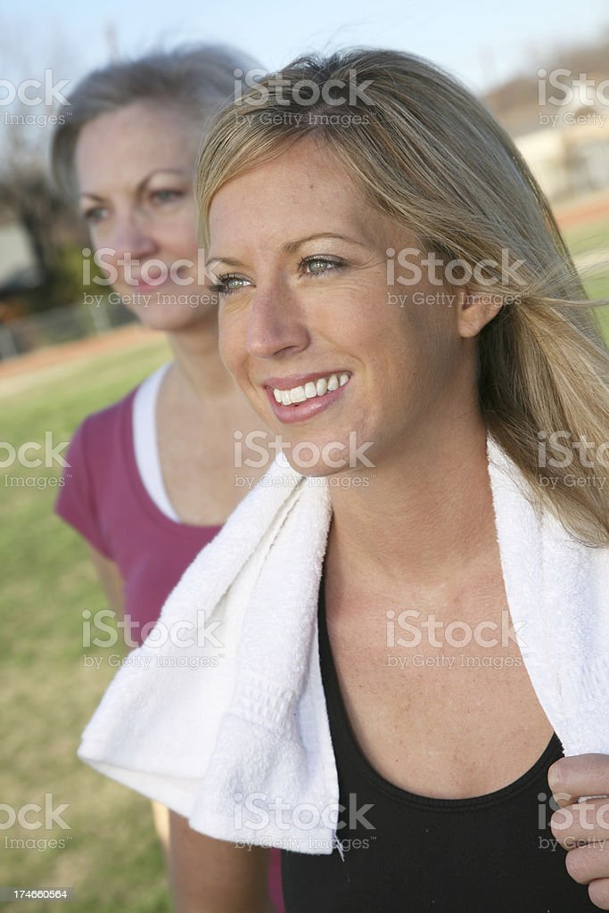 Content Women after a workout royalty-free stock photo
