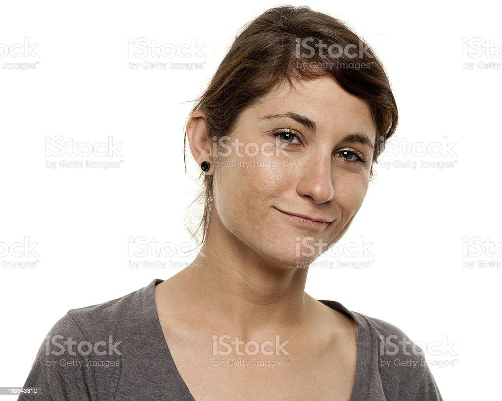 Content Yougn Woman Portrait stock photo