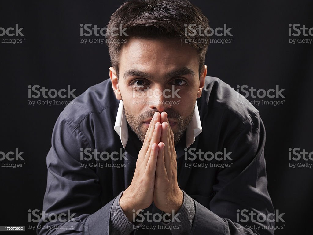 Content Young Man royalty-free stock photo