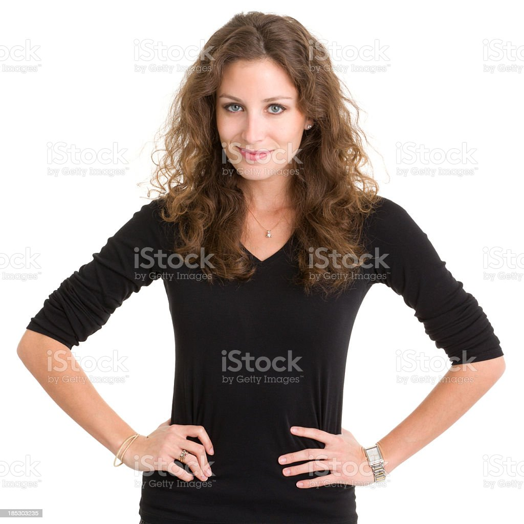 Content Young Woman Posing royalty-free stock photo