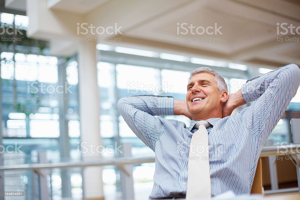 Contented business man royalty-free stock photo
