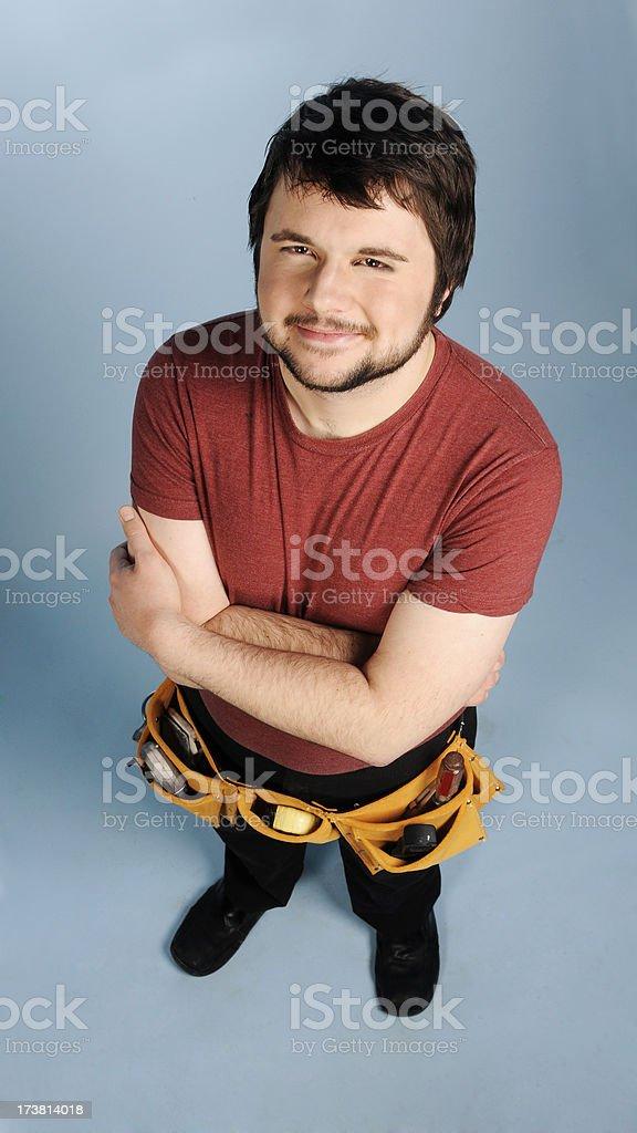 Contented Repairman royalty-free stock photo
