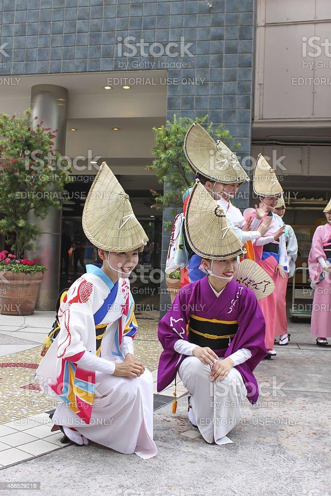 Contest of Yosakoi dancing bands royalty-free stock photo