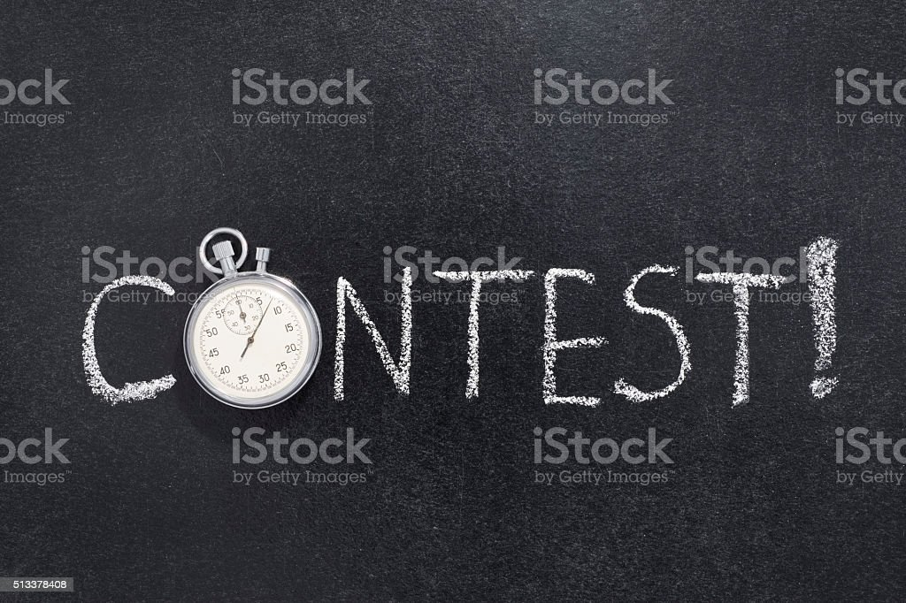 contest word watch stock photo
