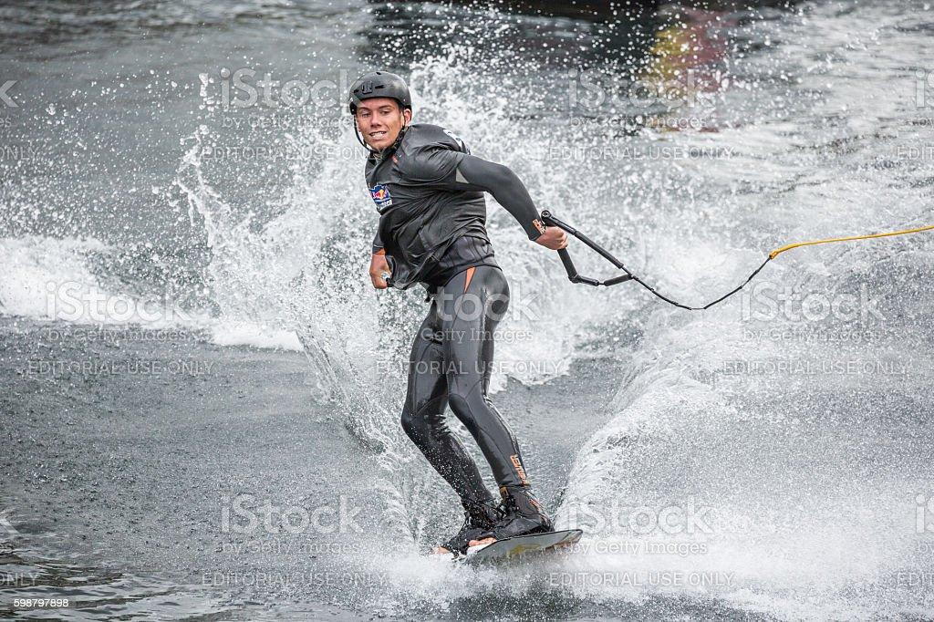 Contestant at Cope'n'waken 2016, Copenhagen, Denmark stock photo