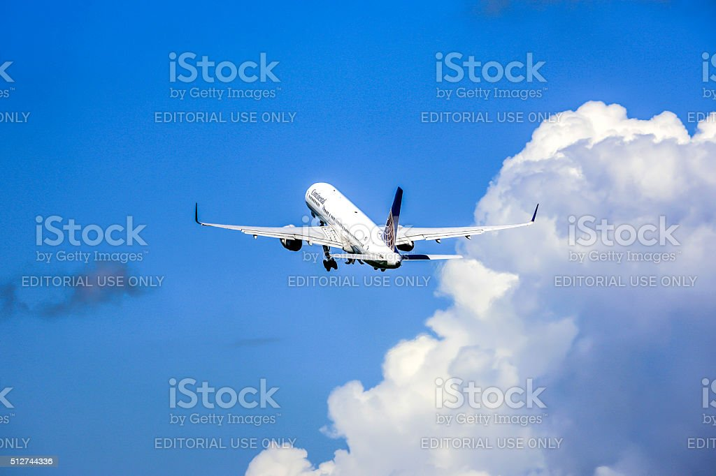 Continental Airlines Boeing 777 aircraft stock photo