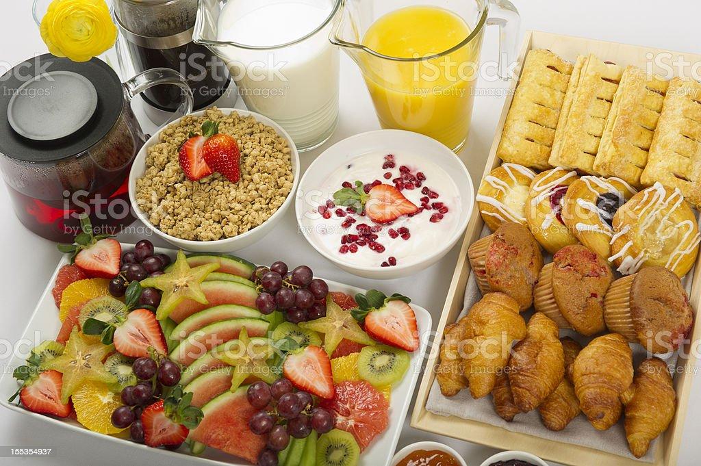 Continental Breakfast Buffet royalty-free stock photo