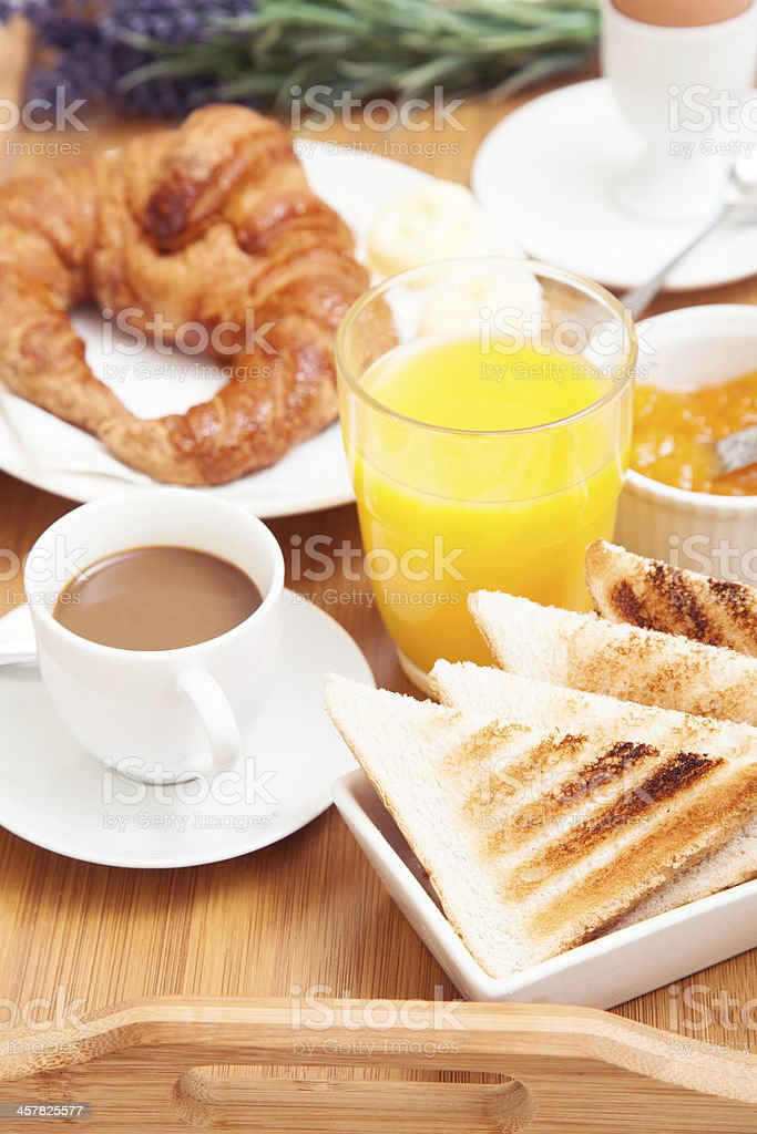 Continental breakfast closeup royalty-free stock photo