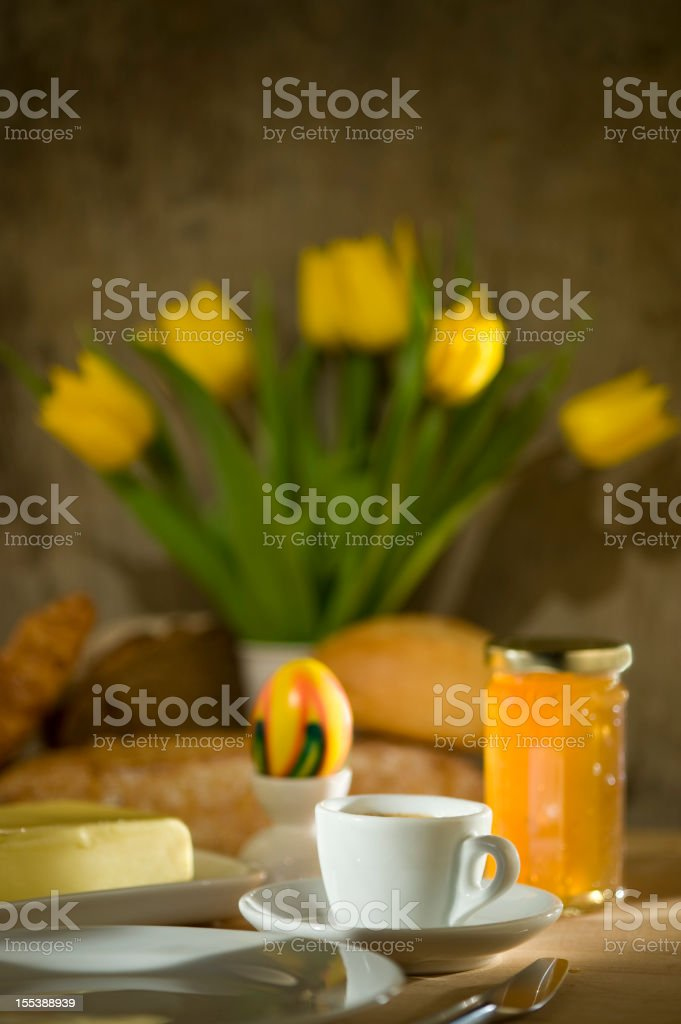 Continental Breakfast during easter time royalty-free stock photo