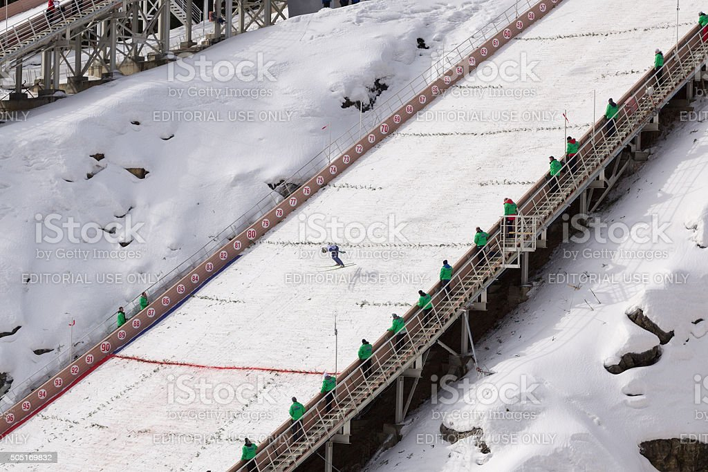 Continental Cup ski jumping stock photo