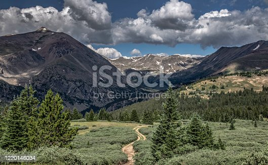View from Hoosier Ridge Trail of the Continental Divide, Colorado