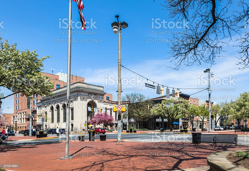 Continental Square in York, Pennsylvania royalty-free stock photo