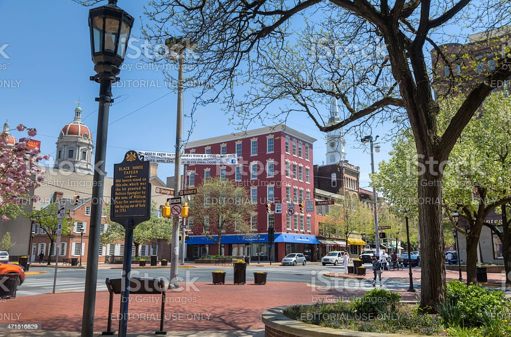 Continental Square, York, Pennsylvania stock photo