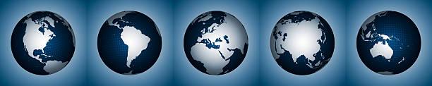 kontinente der erde, xl - 5 kontinente stock-fotos und bilder