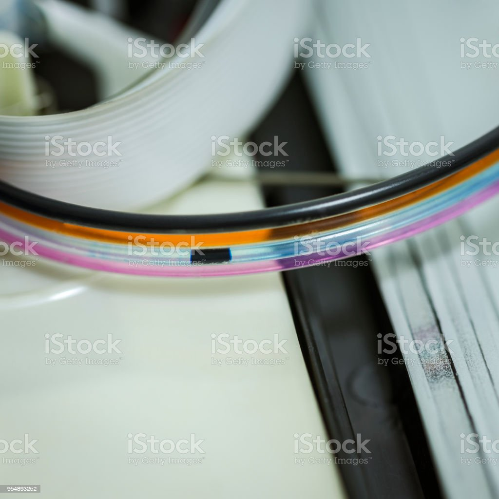 Continous ink supply system fault stock photo
