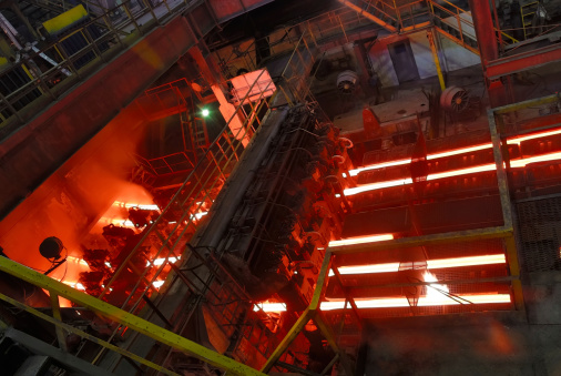 steel works, continuous casting machine