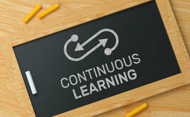 Continuous Learning on Blackboard Continuous Learning on Blackboard qualification round stock pictures, royalty-free photos & images