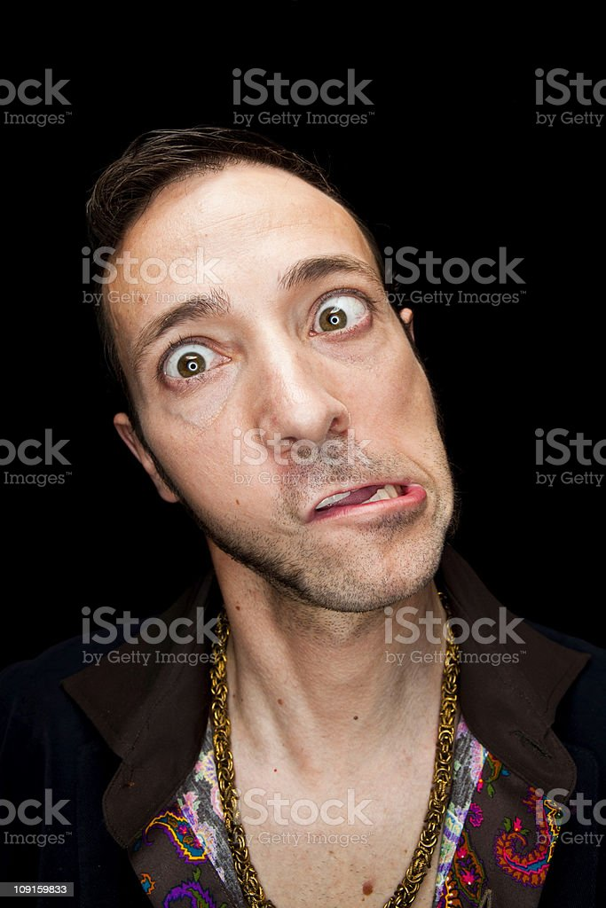 Contorted Face royalty-free stock photo