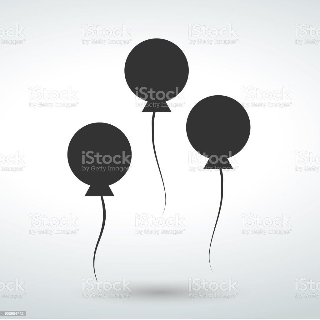 contour balloons party icon stock photo
