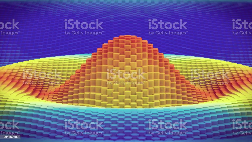 3D contour graph wave pattern extreme close up royalty-free stock photo
