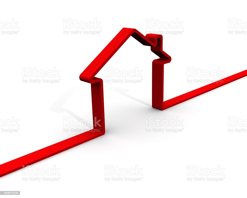 Contour of house stock photo