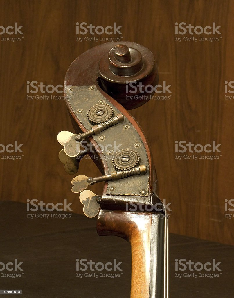 Contrabass top part detail royalty-free stock photo