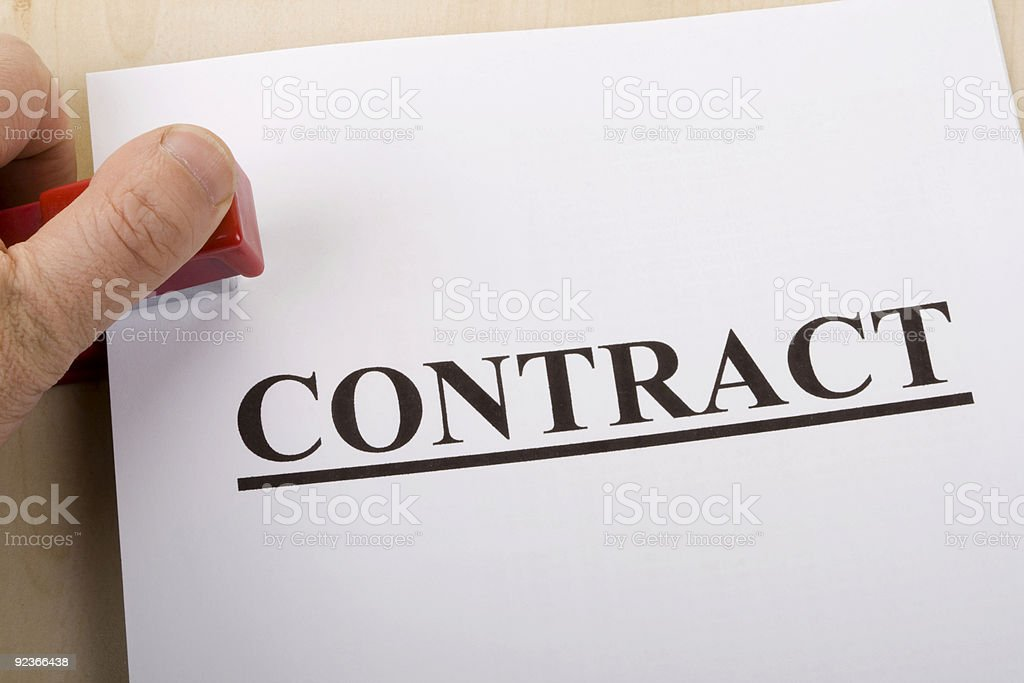 contract and office stapler stock photo