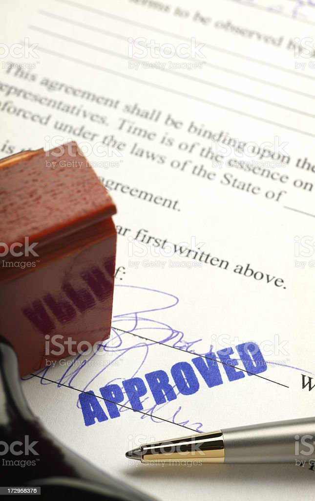 Contract Approved royalty-free stock photo