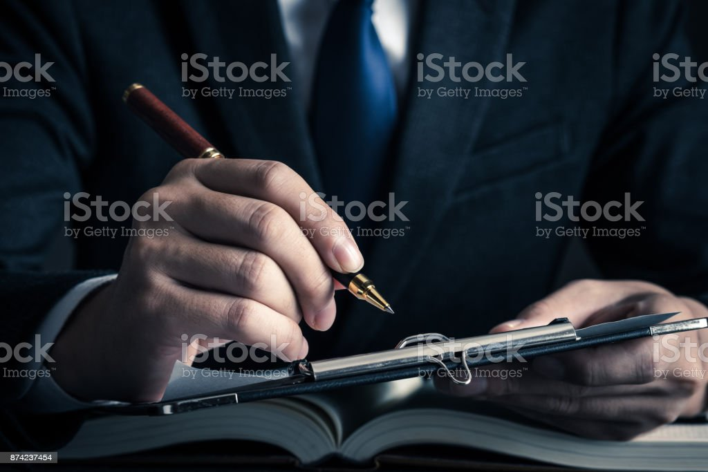 Contract business image stock photo