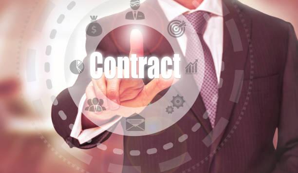 vertrag konzept - kündigung arbeitsvertrag stock-fotos und bilder