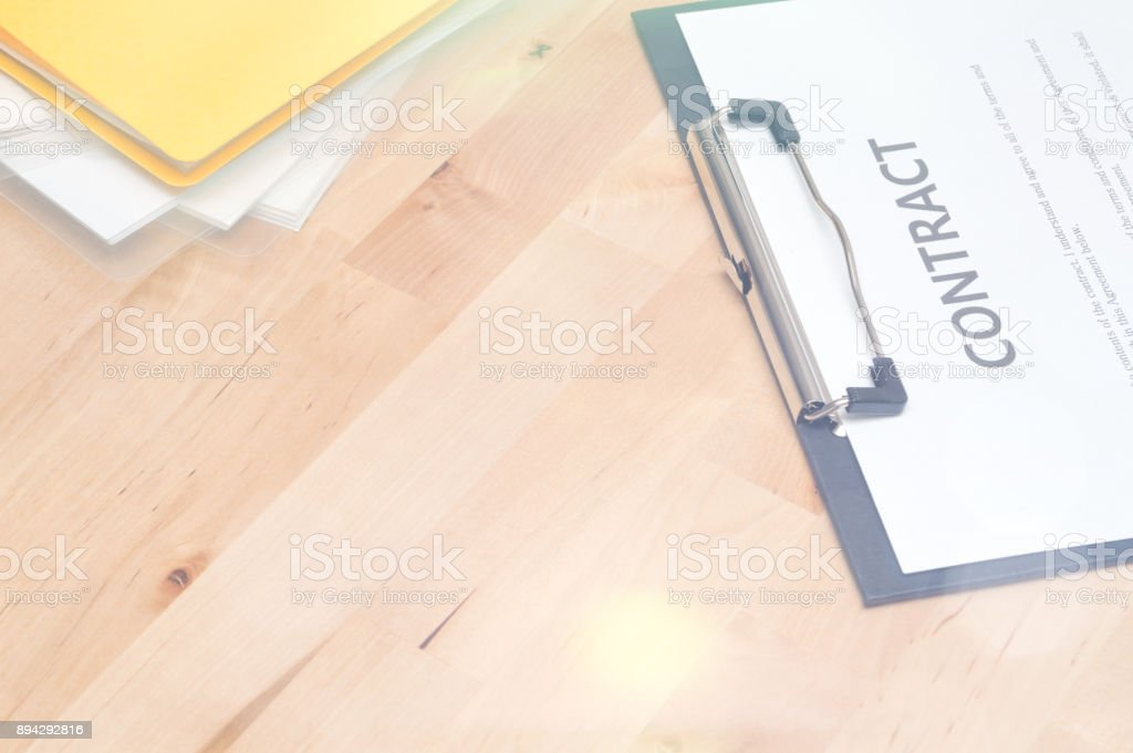 Contract documents: Business concept stock photo