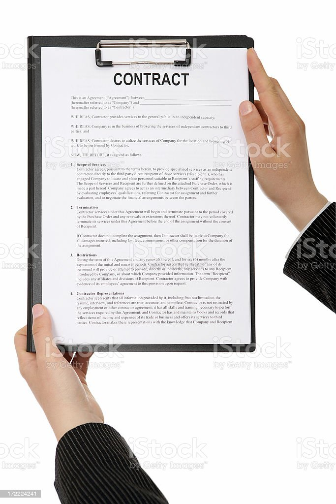 Contract For You royalty-free stock photo