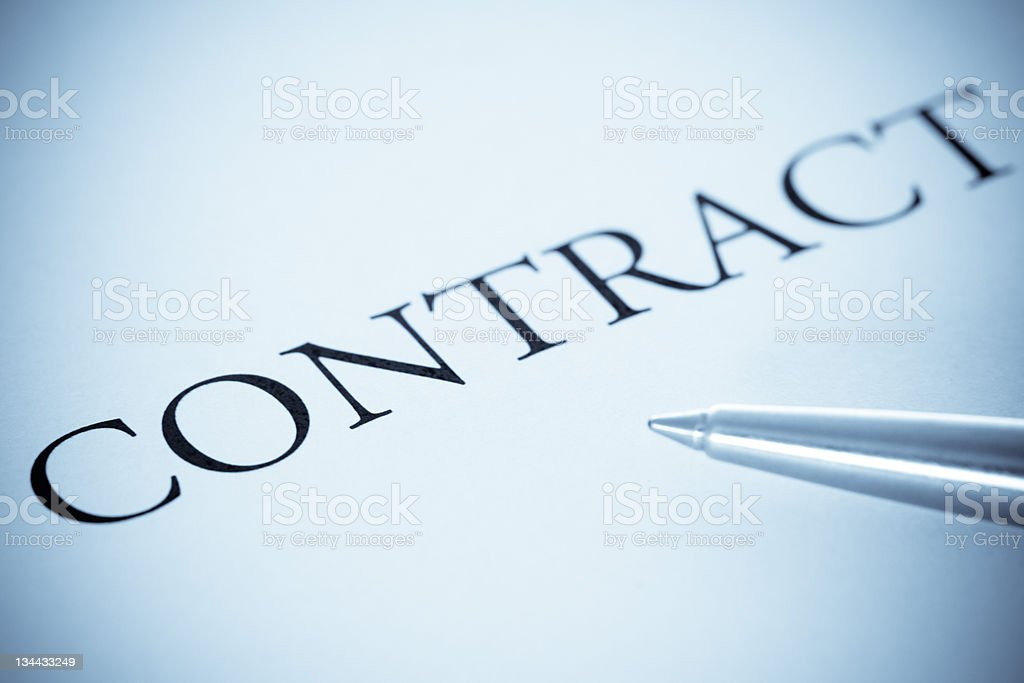 Contract Form With Pen, Selenium Tone stock photo