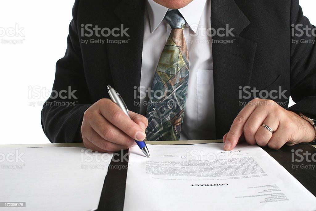 Contrato. foto de stock libre de derechos