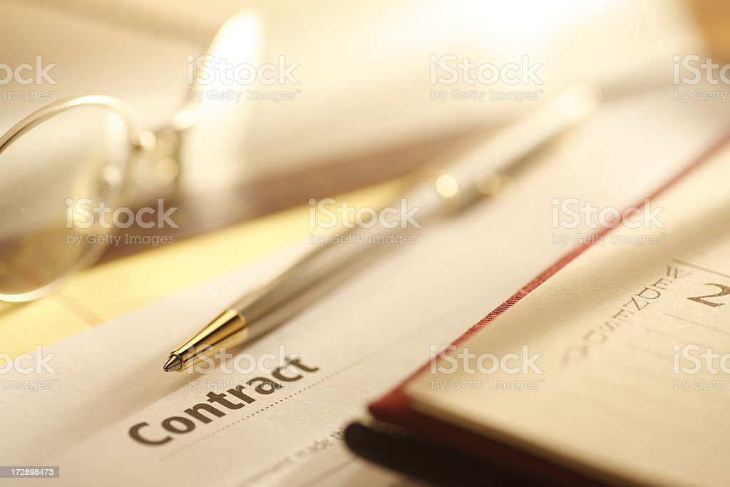 Contract royalty-free stock photo
